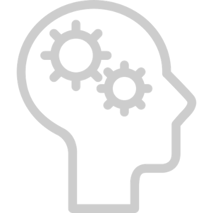 icon brain with idea
