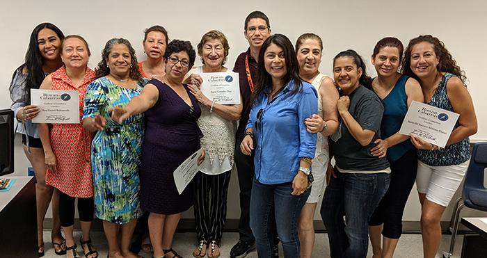 Citizenship class graduation