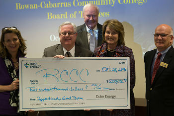 Rowan-Cabarrus Awarded $200,000 Grant from Duke Energy & Piedmont Natural Gas to Connect Students with Apprenticeship Opportunities
